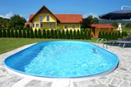 Schwimmbecken Oval Pool Lugano 3,50 x 7,00 x 1,50m - 1