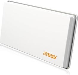 Selfsat H30 D4 Flachantenne für 4 Teilnehmer weiß - 1