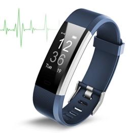 """Smart Watch Wasserdichte IP67 Activity Tracker mit Pulsmesser - Fitness Tracker 0,96 """"OLED-Bildschirm Bluetooth 4,0 Schrittzähler Smartwatch Wireless USB-Laden Armband Armband - 1"""