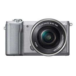 Sony Alpha 5000 Systemkamera (Full HD, 20 Megapixel, Exmor APS-C HD CMOS Sensor, 7,6 cm (3 Zoll) Schwenkdisplay) silber inkl. SEL-P1650 Objektiv - 1