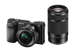 "Sony Alpha 6000 Systemkamera (24 Megapixel, 7,6 cm (3"") LCD-Display, Exmor APS-C Sensor, Full-HD, High Speed Hybrid AF) inkl. SEL-P1650 und SEL-55210 Objektiv, 120 x 66,9 x 45,1 mm, schwarz - 1"