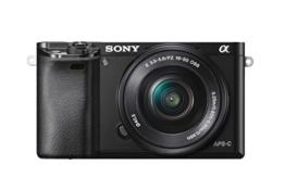 "Sony Alpha 6000 Systemkamera (24 Megapixel, 7,6 cm (3"") LCD-Display, Exmor APS-C Sensor, Full-HD, High Speed Hybrid AF) inkl. SEL-P1650 Objektiv schwarz - 1"