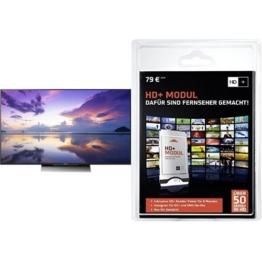 Sony KD-55XD8005 139 cm (55 Zoll) Fernseher (4K HDR, Ultra HD, Smart TV)+ HD PLUS CI+ Modul für 6 Monate (inkl. HD+ Karte, optimal geeignet für UHD, nur für Satellitenempfang) Bundle - 1