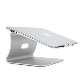 Spinido Verbesserte Alulegierung Cooling Laptop Stand, geeignet für Apple Macbook, alle Notebooks, Tablets, eBook-Reader und Bücher - Silber (Patentiert) - 1