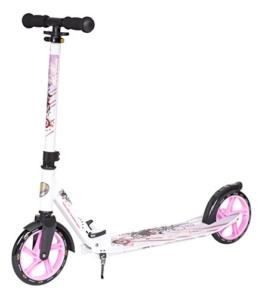 STAR-SCOOTER® XXL City Scooter Extragroß für einen sicheren Stand auch auf dem Schulweg ★ 205mm Big Foot Deck Edition ★ Weiß & Lila - 1