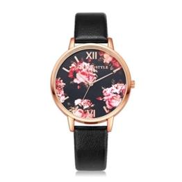 Sunnywill Frauen Mädchen Damen Schöne Mode Design Analog Quarz Armbanduhren Uhr für Weibliche (Black) - 1