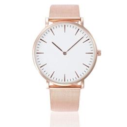 Sunnywill Women's men's Wrist watch Steel Armband Quartz Casual Uhren (A) - 1