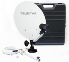 Telestar Camping-Sat-Anlage (Hartschalenkoffer, 13,7 Zoll (35 cm) Spiegel , Single-LNB (0,1dB), Kompass, Kabel 10m, diverse Halter) - 1