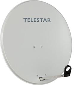 Telestar Digirapid 80 S SAT-Spiegel (80 cm Stahl-Spiegel, Masthalterung, 40mm LNB-Halterung) lichtgrau - 1