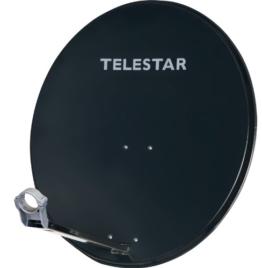 Telestar Digirapid 80 SAT-Spiegel (80 cm Aluminium-Spiegel, vormontierte Masthalterung, 40mm LNB-Halterung) schiefergrau - 1