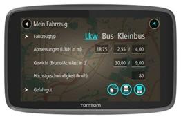 TomTom Go Professional 520 LKW-Navigationsgerät (Update via Wi-Fi, (12,7 cm) 5 Zoll, 50.000 POIs, Smartphone Benachrichtigungen, Lebenslang Karten (Europa), Lebenslang Traffic und Radarkameras) schwarz - 1