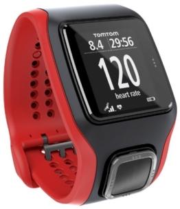 TomTom GPS Sportuhr Multisport Cardio, Red/Black, One size, 1RH0.001.01 - 1