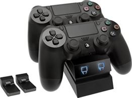 Venom Twin Docking Station, lädt zwei Dualshock 4 Controller gleichzeitig ohne Kabel, mit LED Anzeige - Playstation 4 - 1