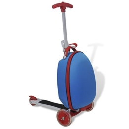 vidaXL Kinder Scooter Reisekoffer Trolley Roller Handgepäck Tretroller Rollkoffer - 1
