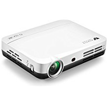WOWOTO Mini Beamer, 3D Full HD Projektor 1280x800 Support 1080P DLP Projektor, Android 4.4 OS , mit Aufsatz, HDMI, WiFi & Bluetooth - 1