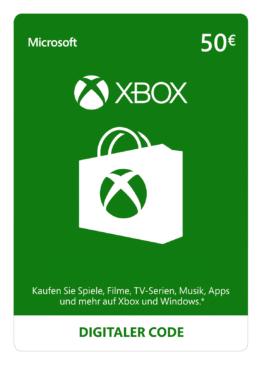 Xbox Live Guthaben | 50 EUR  | Xbox Live Download Code - 1